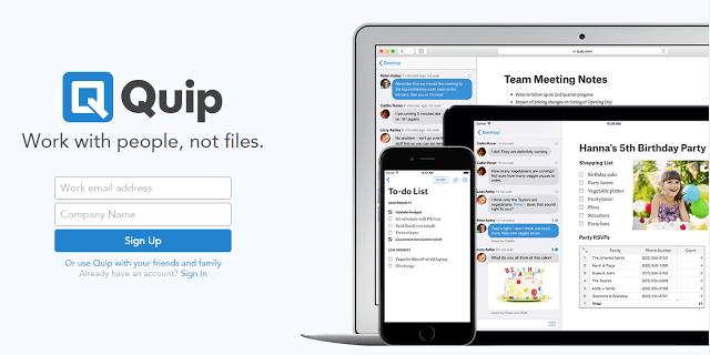 以人為出發點的協作平台,Quip!