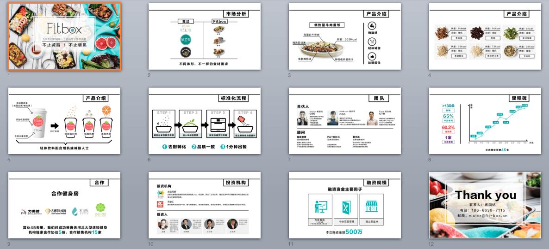 募資簡報風格之3:飲食類 商業企劃書範例